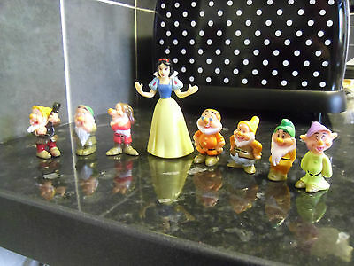 Snow White And The Seven Dwarfs Hard Pvc Toy Figures - New - Uk Seller