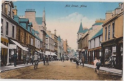 Pc Alloa Mill Street , Posted 1920
