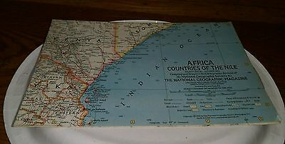 1963 Africa Countries Of the Nile Map Cartographic Division National Geographic