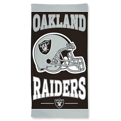 Oakland Raiders NFL Beach Towel - 30 x 60 inches