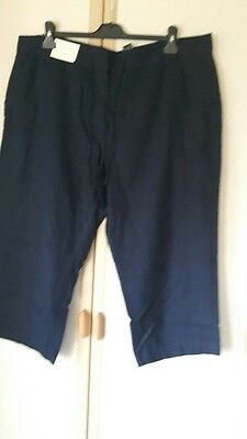 New, Next Cropped linen trouser size 18R