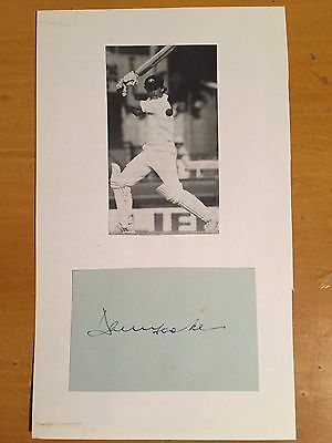 1970s David Hookes signed card with mag photo Australia test player vgc