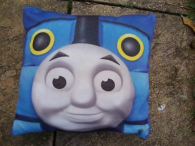 Used Square Blue Thomas The Tank Engine Cushion