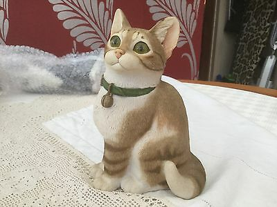 """""""Sherratt and Simpson"""" Cat in Beige & White Tabby with Bell Collar Collectable"""