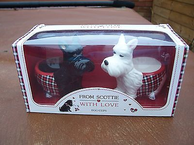 From Arcadia Ceramic Scottie Dog Boxed Egg Cups
