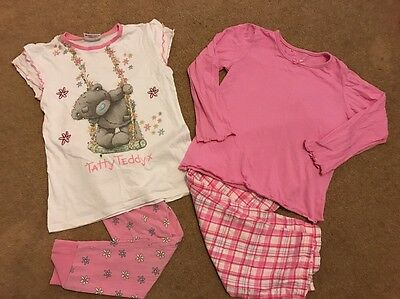 2 Pairs Girls Pyjamas 7-8 Years