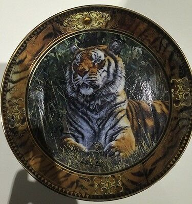 Limited Edition Tiger Display Plate- Franklin Mint Fine Porcelain By Anthony Gib