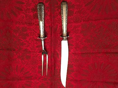"Towle Candlelight Sterling Silver Carving Set  9 3/4"" No Monograms"
