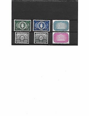 Timbres Neufs des Nations- Unies**
