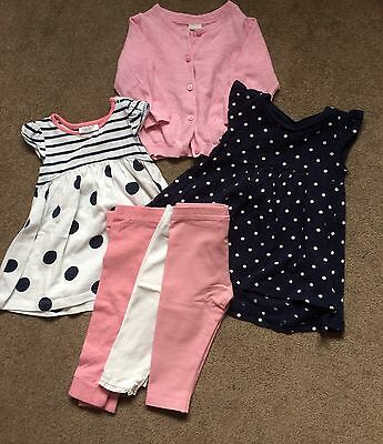 Girls Bundle 3-6 Months Next H And M Dresses Leggings And Cardi