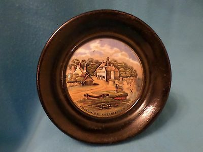 "Victorian Prattware Pot Lid ""pegwell Bay Est 1760"" Pegwell Collection"