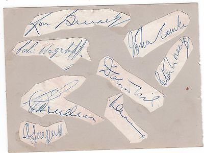 Peterborough United Original Autographs Early 1960's