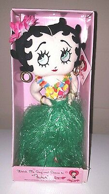 Betty Boop Hula Singing Dancing Doll Sing Dance To Fever Hula Skirt *new*