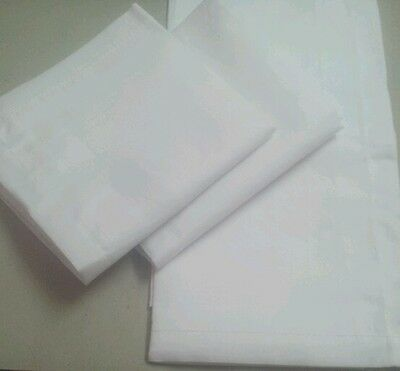 12 White Large Hankies Handkerchiefs Cotton for Men Gift Set Hankie Mens Hanky