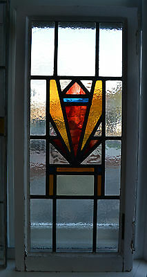 Art deco leaded light stained glass window. R303. WORLDWIDE DELIVERY!!!