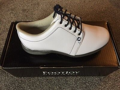 FOOTJOY AWD LEATHER LADIES GOLF SHOES Size 5 Colour WHITE  NEW