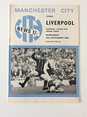 Manchester City v Liverpool - League Cup 3rd Round - 24/09/1969