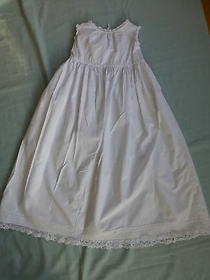 Vintage antique style childs toddlers cotton petticoat dress