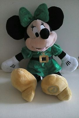 Rare Plush Minnie Mouse St Patricks Day From London Disney Store