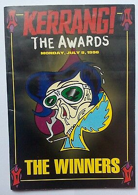 Kerrang Awards 1996. The Winners Magazine. From awards ceremony. Collectors item