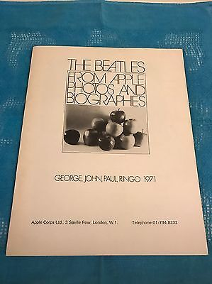 The Beatles Apple Records From Apple Photos And Biographies Booklet
