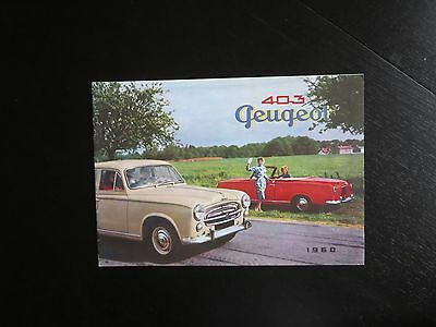 1960 Peugeot 403 Brochure in French