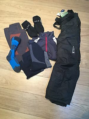 Boys Aged 8-10 Salopettes, Thermal Top & Bottoms, Gloves & Socks
