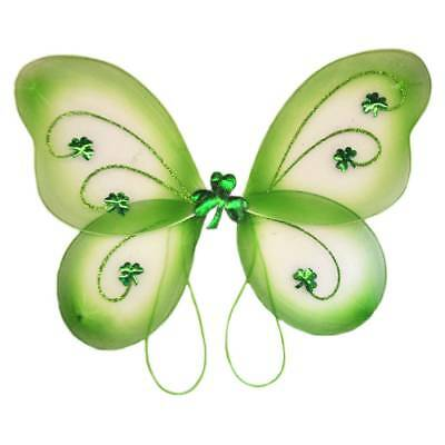 Green Fairy Wings Covered In Glitter With A Fluffy Centre