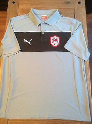 Cardiff City Fc Polo Shirt. Size Large Adult. Cymru Wales Great Cond. L@@k