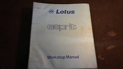 Lotus Esprit Workshop Manual 04/1978