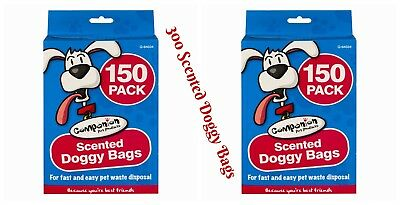 450 Scented Doggy Bags Pet Pooper Scooper Bag Dog/cat Poo Waste Material Toilet