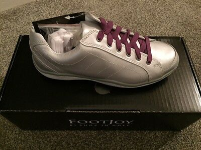 FOOTJOY LOPRO CASUAL SPIKELESS WOMENS GOLF SHOES Size 7.5 Colour SILVER NEW
