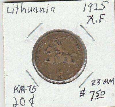 LAM(Y) Coin - Lithuania - 1925 - X.F. - 23 MM