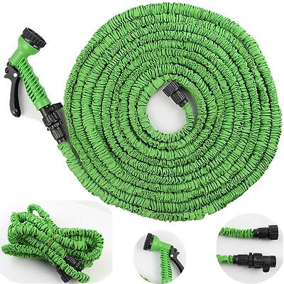 Deluxe Plastic Magic Hose Drip Irrigation Hose Expandable Garden Water Hose 75FT