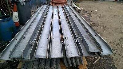 9 X PALISADE FENCING POSTS FOR 2.4 mtr HIGH FENCING