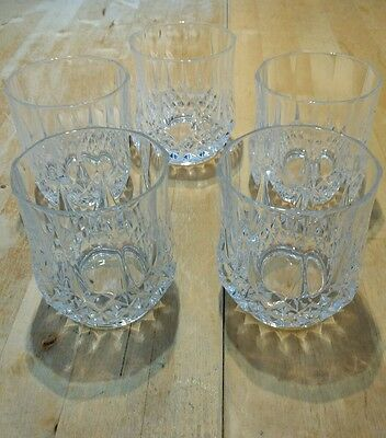 5 cut crystal whisky glass glasses tumbler NO RESERVE Great Condition