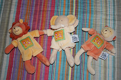 3 Peluches Moulin Roty