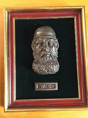 WG Grace boxed First Impressions 3D antique replica metallic face Plaque 8/500