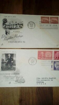 First Day Covers x 2 USA 1956 & 1957