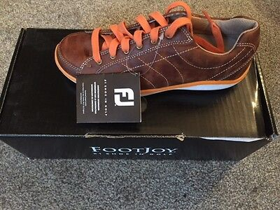 FOOTJOY LOPRO CASUAL SPIKELESS WOMENS GOLF SHOES Size 4.5 BROWN/ORANGE NEW