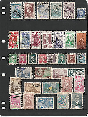 BRAZIL 1950 collection (2 scans) many better stamps noted Mint/Used