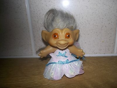 "rootie tab troll made in the early 1960s 2.5"" tall painted eyes unmarked-rare."
