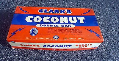 "Vintage "" D.l.clark's Coconut Double Bar Candy Box """