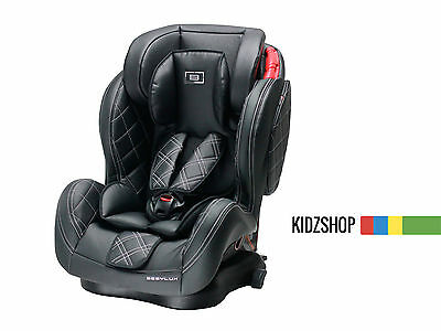 Diamond Stitched Luxury Leather 3 In 1 Kids Child Isofix Car Seat Group 123 Baby
