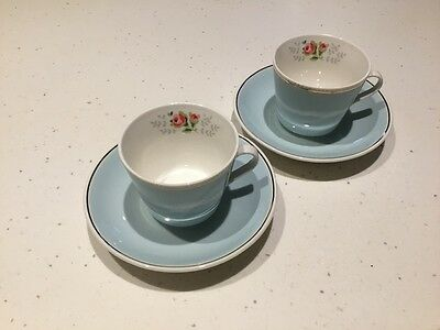 Cath Kidston Coffee cup set, Pale blue coffee cups, RARE, excellent condition !