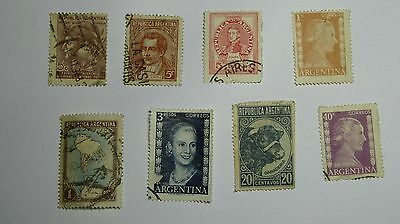 Stamps:- A Selection of Used Argentina Stamps