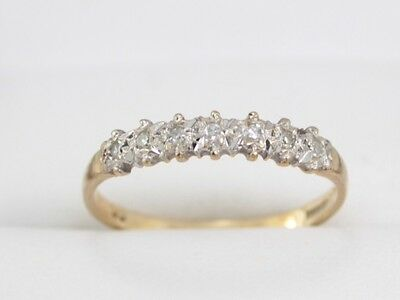 Diamond Engagement Ring 9ct Gold Ladies Size O Ideal Gift 375 V46
