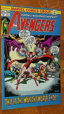 The AvENGeRS #104  F+  ~ ScaRLeT WiTCH ~ from 1972