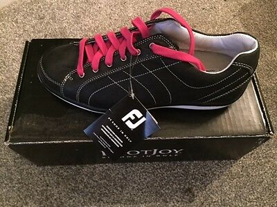 FOOTJOY LOPRO CASUAL SPIKELESS WOMENS GOLF SHOES Size 7.5 WIDE Colour BLACK NEW