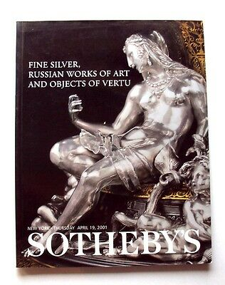 2001 SOTHEBY'S Fine Silver Russian Works of Art Vertu AUCTION New York w PRICES